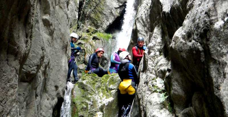 Canyoning at the Roccagelli gorge