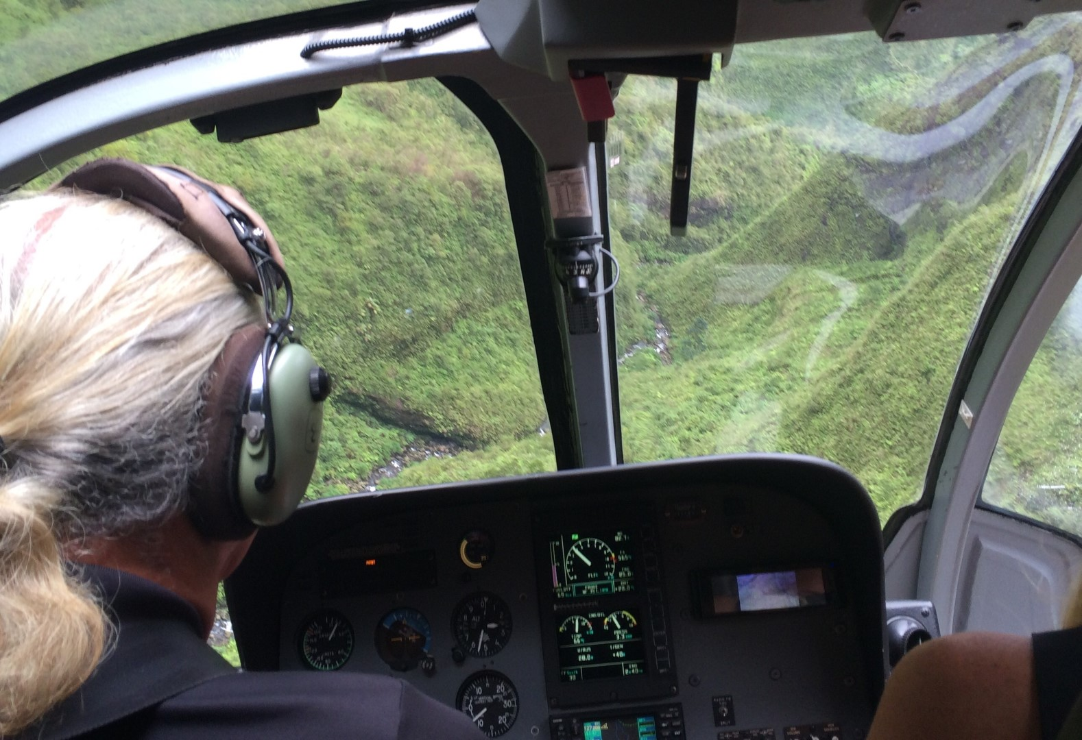 The thrill of a tourist helicopter flight