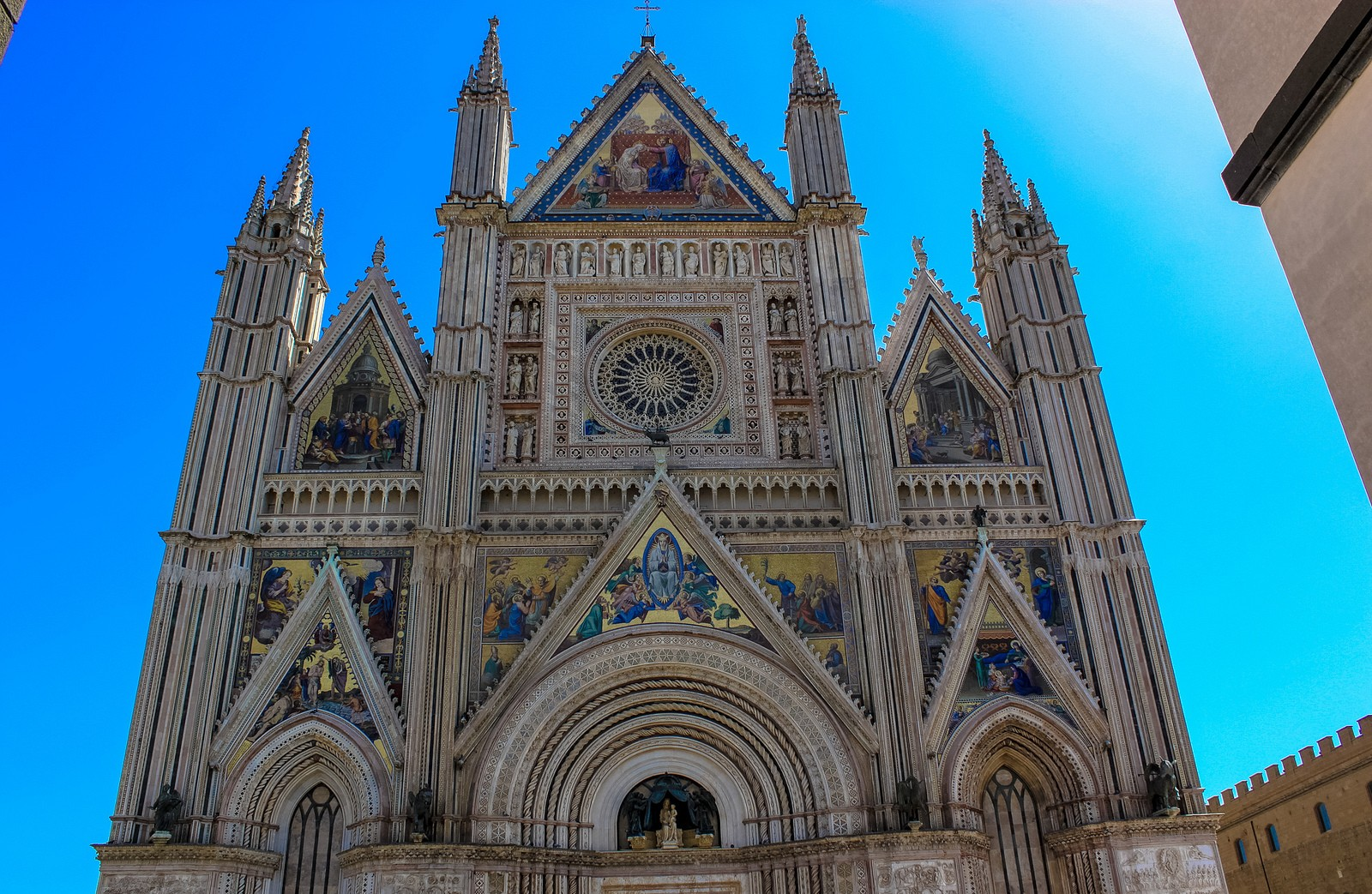 Orvieto's Cathedral, and the well of St. Patrick