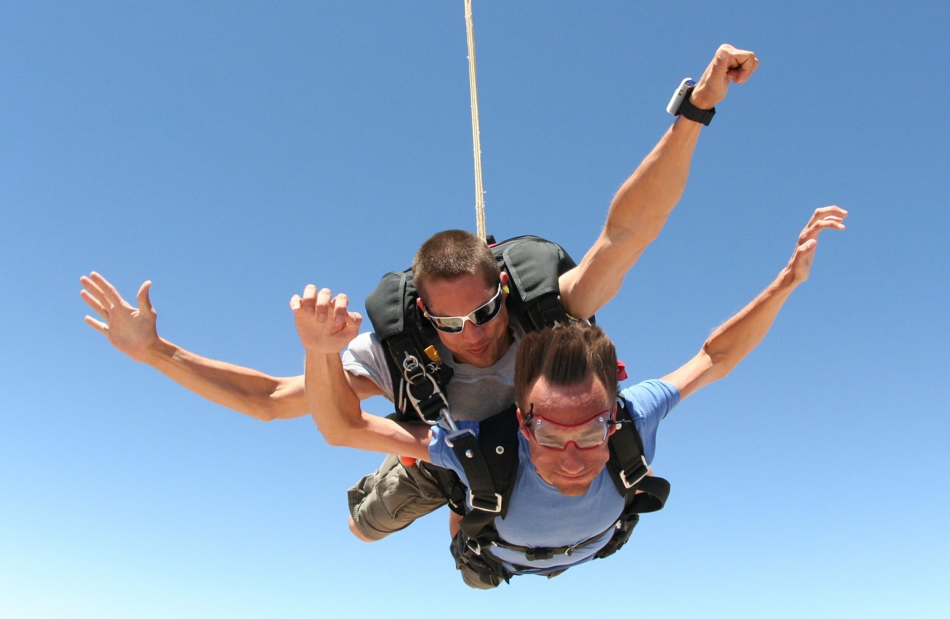 Lancio con paracadute in tandem in Umbria