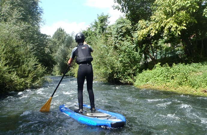 SUP (Stand up paddle) on Nera River