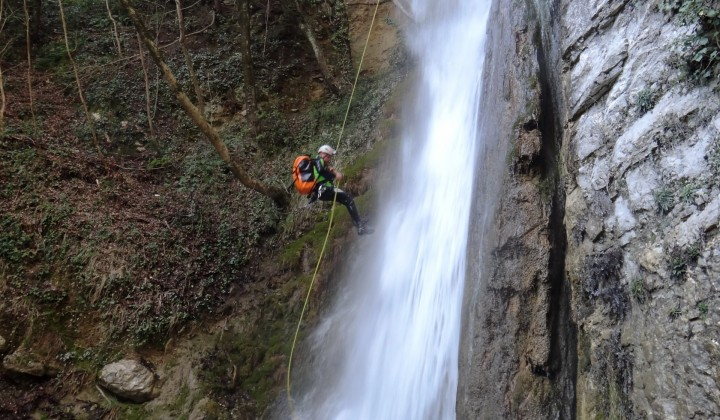 Canyoning at the Casco Gorge