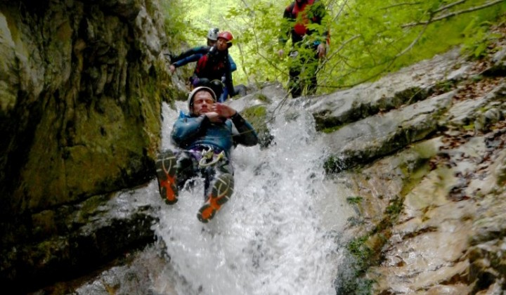 Canyoning in Pago le Fosse