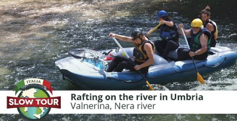 Rafting on the river in Umbria