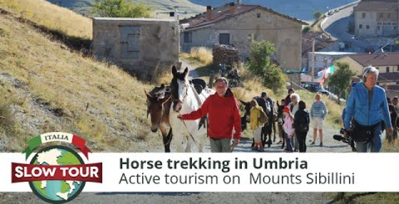 Active tourism: horse trekking in Umbria