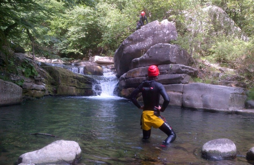 Canyoning at the Dolo River