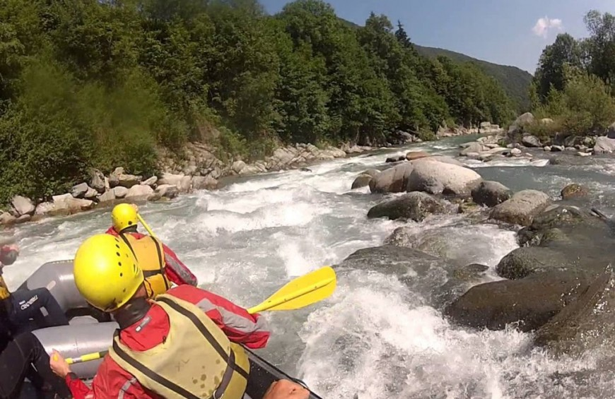 Rafting in Piedmont region on Stura di Demonte river