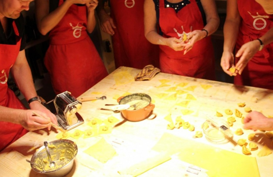 Cooking lesson in Rome