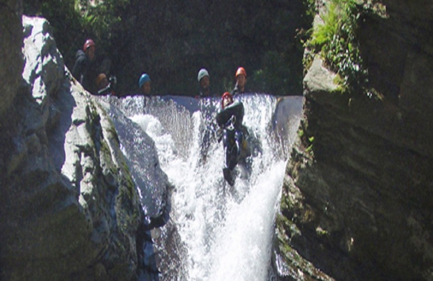 Canyoning gorge of the Callora river