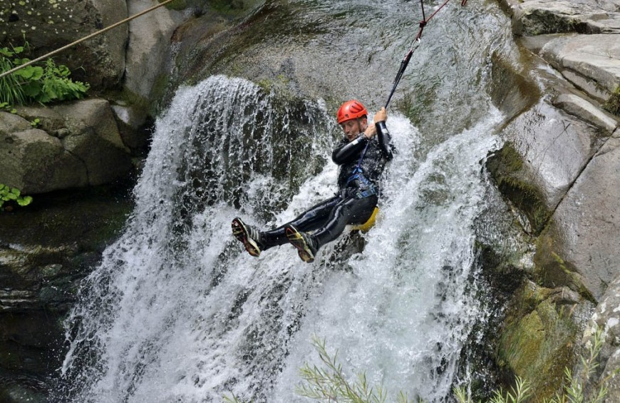 Canyoning Secchia river