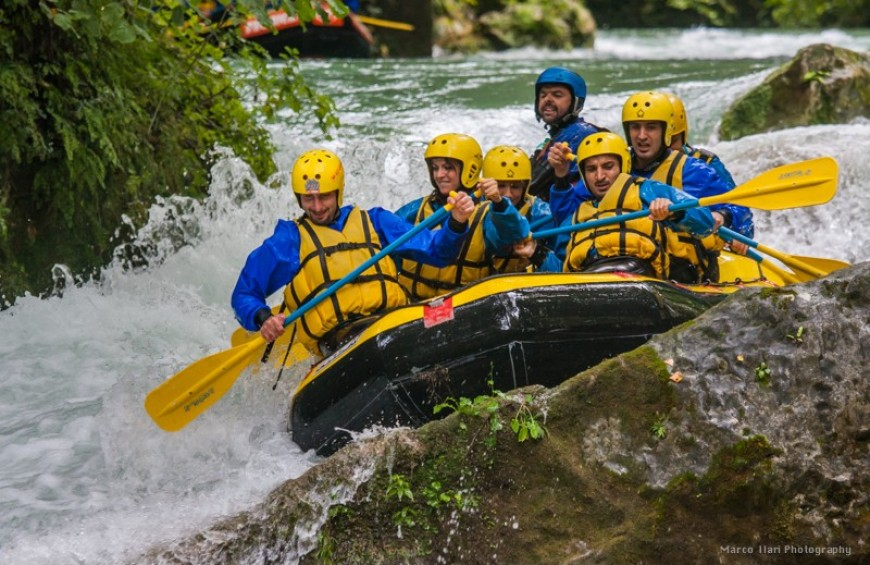 Rafting under the Marmore Falls