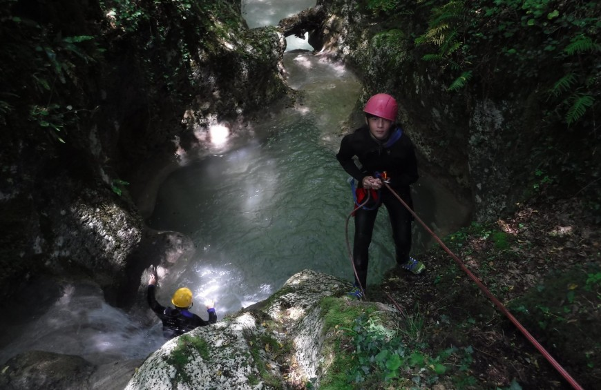 Canyoning in Mola Gorges