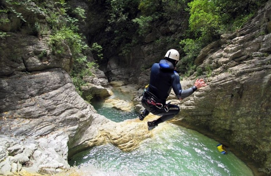 Canyoning at the Prodo Gorge