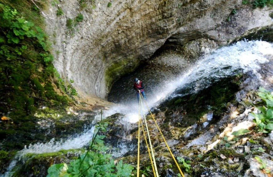 Canyoning at Ussita Gorges
