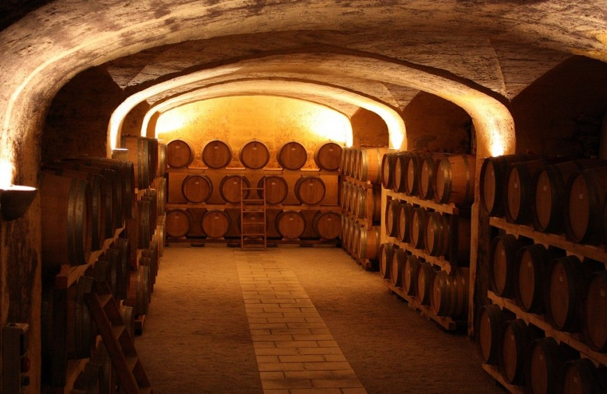 On the Chianti hills: wine tasting of famous tuscan wine