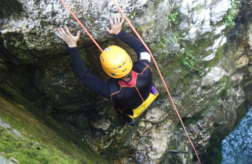 Canyoning on Sammaro river