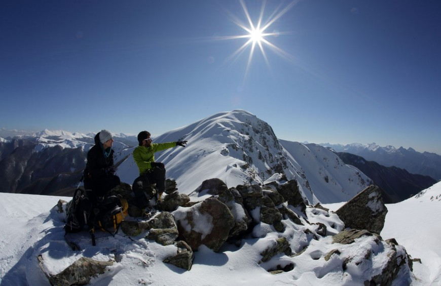 The peaks of the Tuscan-Emilian Apennines with crampons