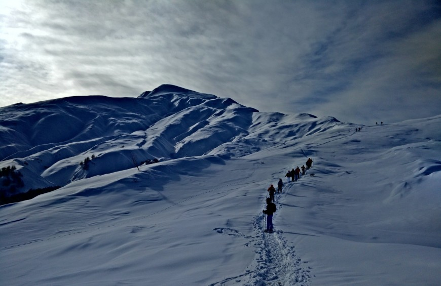 Snowshoeing on the Tuscan-Emilian Apennines