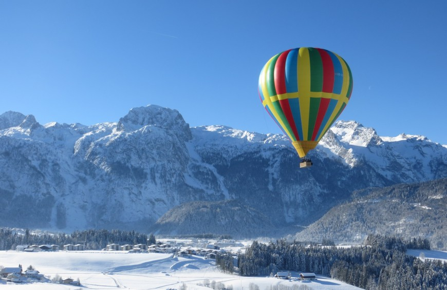 Balloon flight in the Alps of Valle d'Aosta