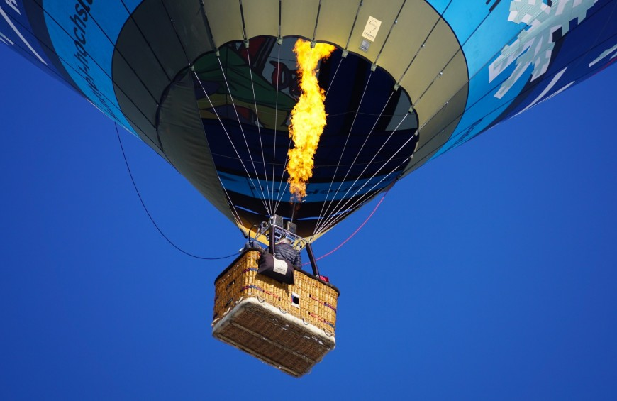 Balloon flight in the skies of the Canavese