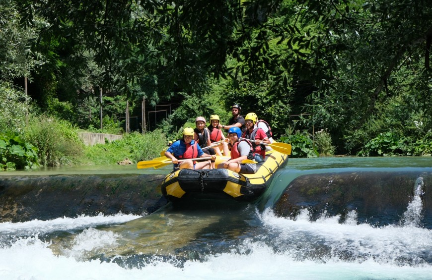 Power Rafting sul fiume Aniene