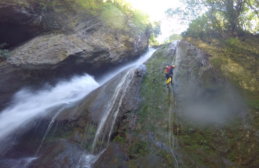 Canyoning in Pale gorge